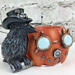 Steampunk Raven Halloween tea light Yankee Candle